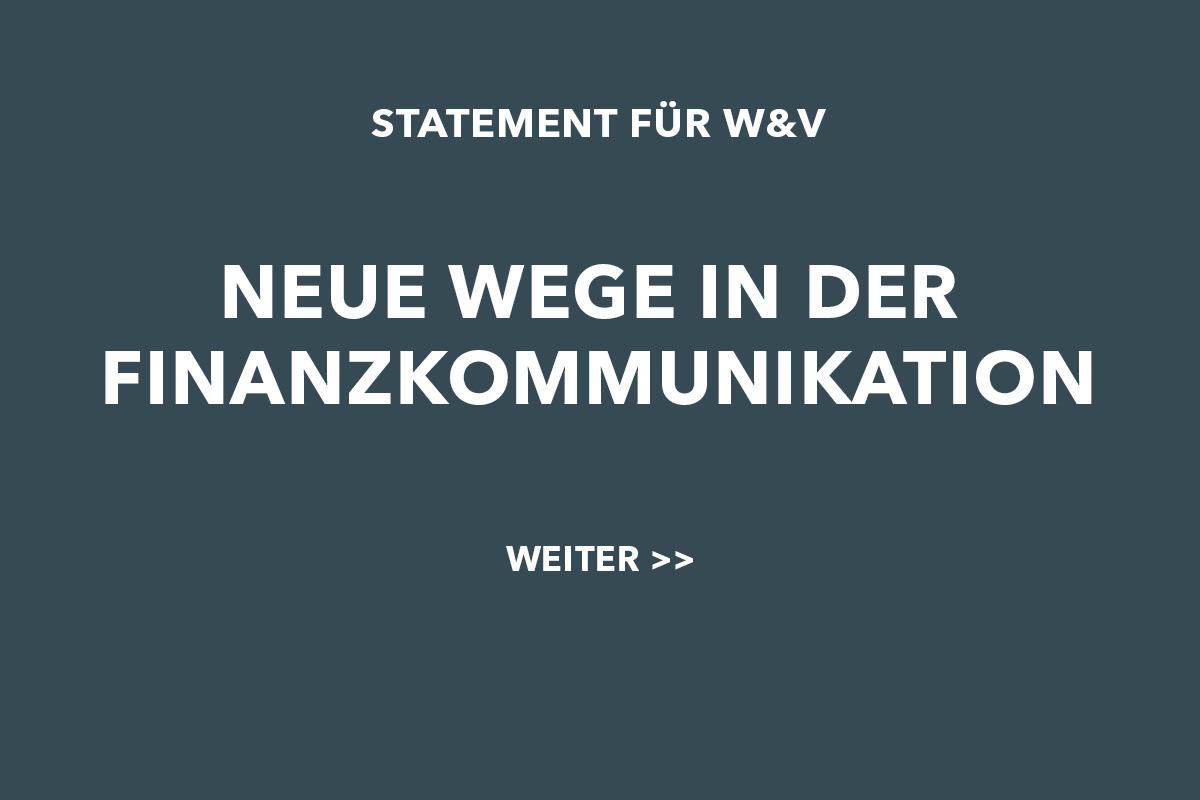 Statement für W&V