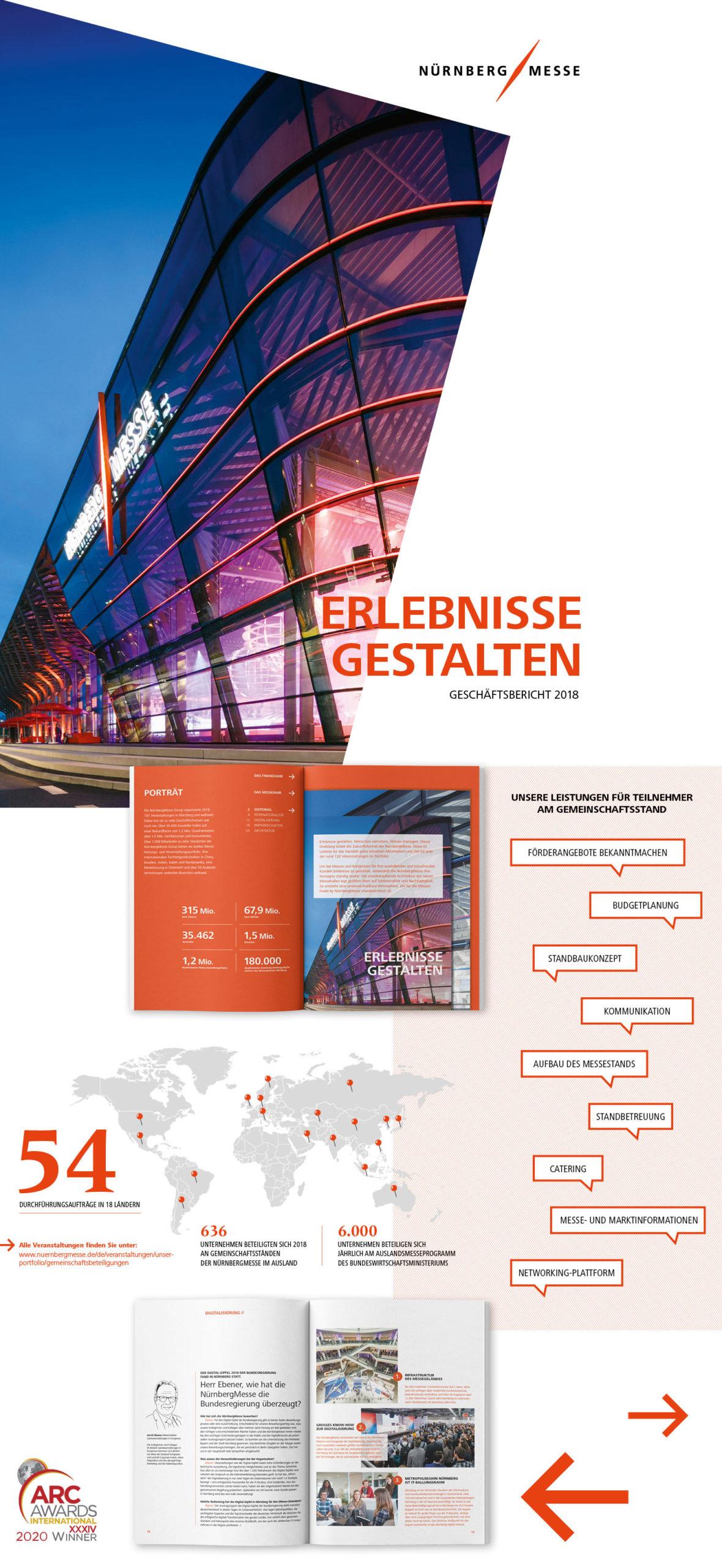 NürnbergMesse Geschäftsbericht 2018
